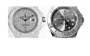 Reloj falsificado y original