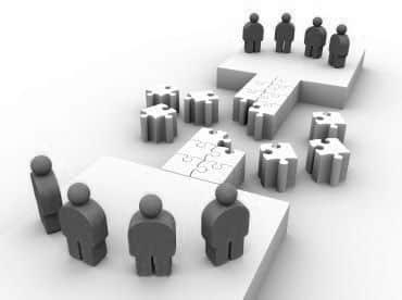 Grupo de trabajadores de empresa