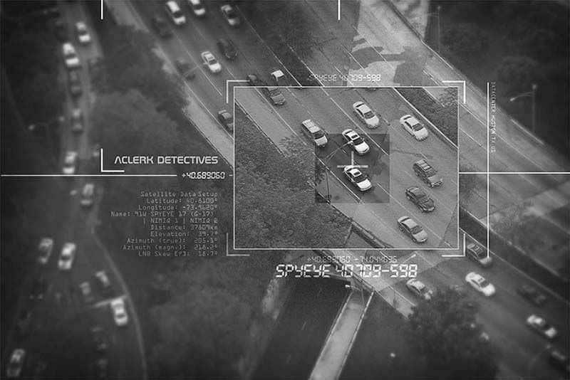 Monitorización de vigilancia electrónica de vehículos en la vía pública